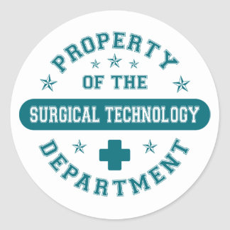 Property of the Surgical Technology Department Classic Round Sticker