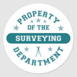 Property of the Surveying Department Classic Round Sticker