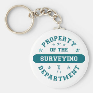 Property of the Surveying Department Keychain