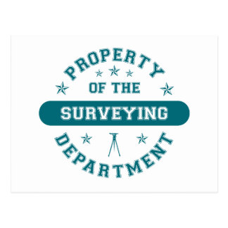 Property of the Surveying Department Postcard