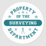 Property of the Surveying Department Stickers