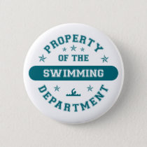 Property of the Swimming Department Pinback Button
