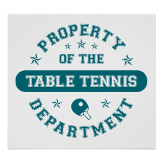 Property of the Table Tennis Department Poster