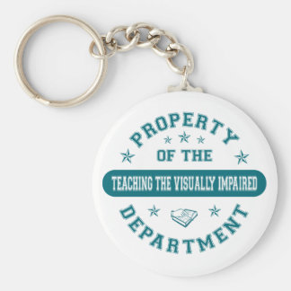 Property of the Teaching the Visually Impaired Dep Key Chain