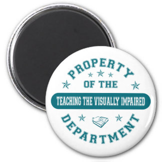 Property of the Teaching the Visually Impaired Dep 2 Inch Round Magnet