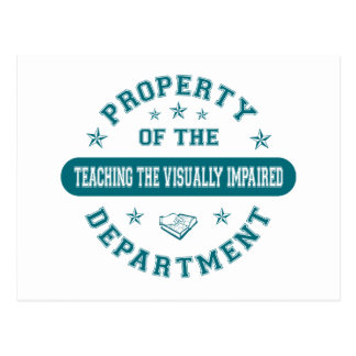 Property of the Teaching the Visually Impaired Dep Post Cards