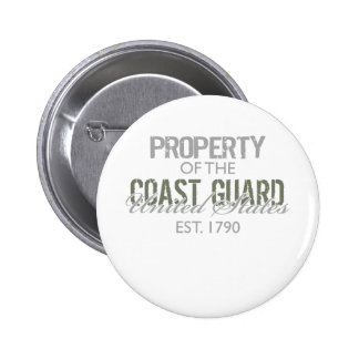 Property of the US Coast Guard (Green) Button
