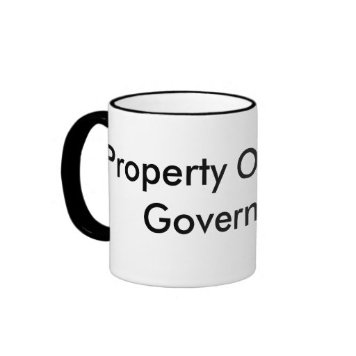 Property Of The US Government Ringer Mug