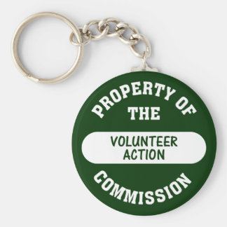 Property of the Volunteer Action Commission Basic Round Button Keychain
