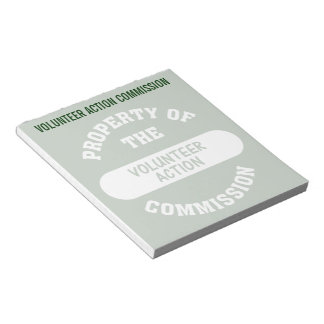 Property of the Volunteer Action Commission Notepad
