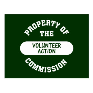 Property of the Volunteer Action Commission Postcard