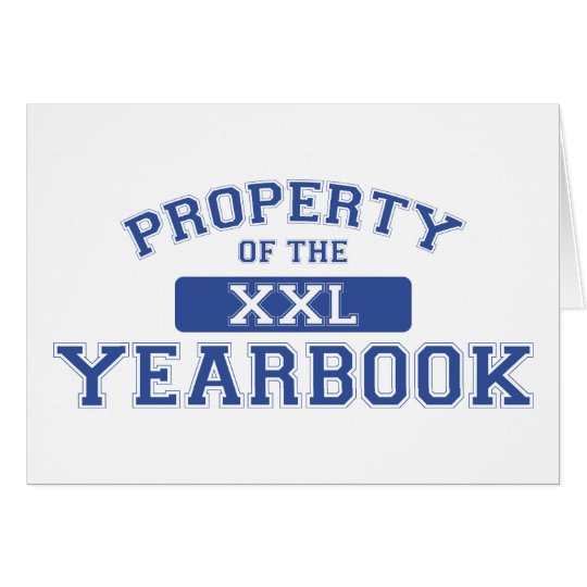 Property Of The Yearbook XXL Card