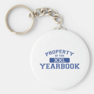 Property Of The Yearbook XXL Basic Round Button Keychain