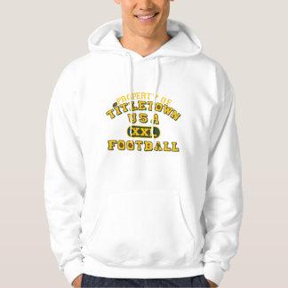 Property of Titletown USA XXL Football Hooded Sweatshirt
