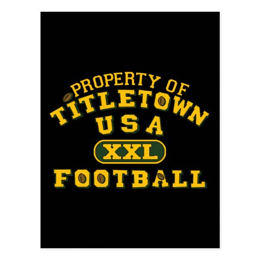Property of Titletown USA XXL Football Postcard