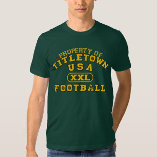 Property of Titletown USA XXL Football Tee Shirt