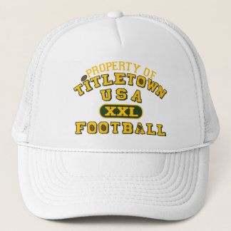 Property of Titletown USA XXL Football Trucker Hat
