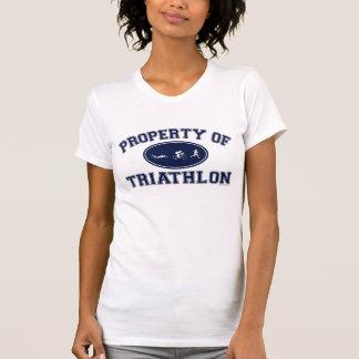 Property of Triathlon t-shirts