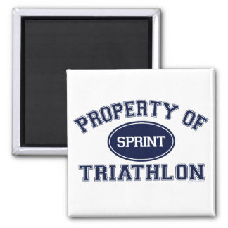 Property of Triathlon t-shirts 2 Inch Square Magnet