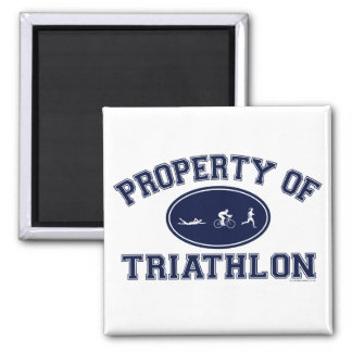 Property of Triathlon t-shirts Magnets