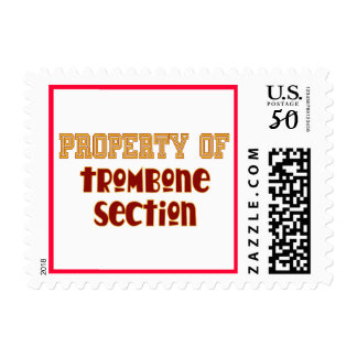Property of Trombone Section Postage