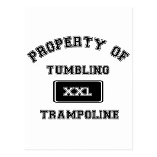 Property of Tumbling Trampoline Postcard