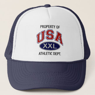 PROPERTY OF USA ATHLETIC DEPT. TRUCKER HAT