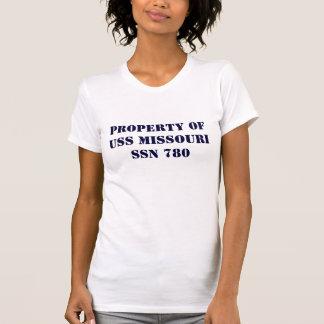 PROPERTY OF USS MISSOURI Ladie's T T Shirt