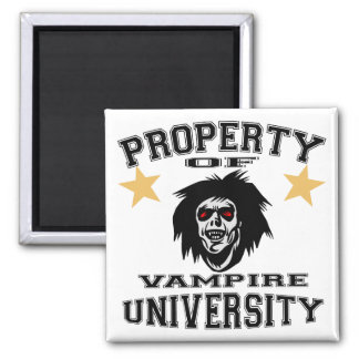 Property Of Vampire University 2 Inch Square Magnet