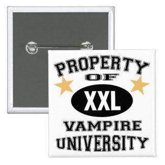 Property Of Vampire University Pinback Button