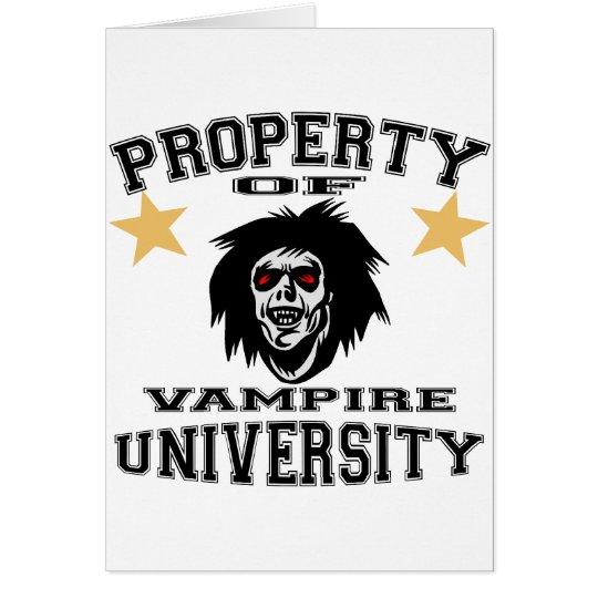 Property Of Vampire University Card