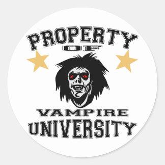 Property Of Vampire University Classic Round Sticker
