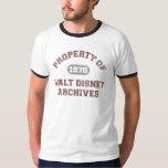 Property of Walt Disney Archives T-Shirt