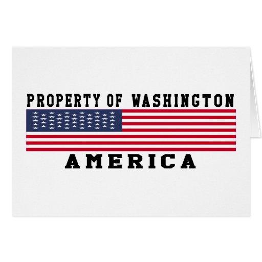 Property Of Washington Greeting Card