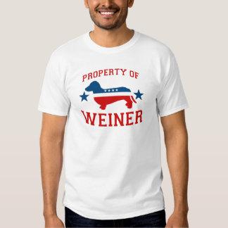 PROPERTY OF WEINER TSHIRTS
