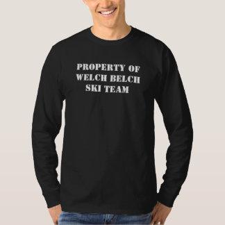 Property of Welch Belch Ski Team Tee Shirt
