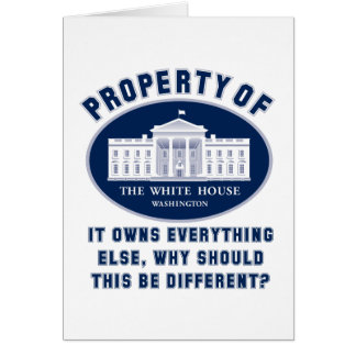 Property of White House Card
