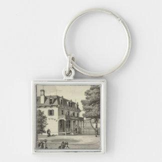 Property of Wm V Reid, Villa Park, NJ Silver-Colored Square Keychain