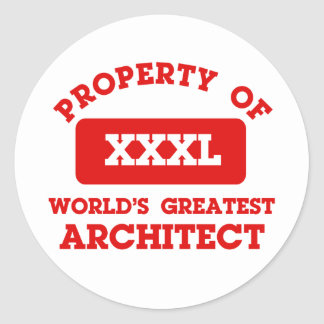 Property of world s greatest Architect Round Stickers