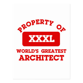 Property of world's greatest Architect Postcard