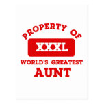 Property of world's greatest Aunt Post Cards