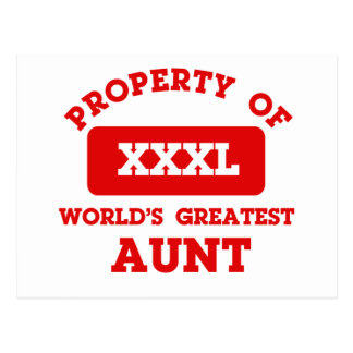 Property of world's greatest Aunt Postcards
