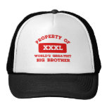 Property of world's greatest Bigbrother Hats