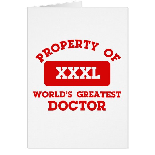 Property of world's greatest Doctor Card