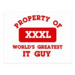 Property of world's greatest IT guy Postcard