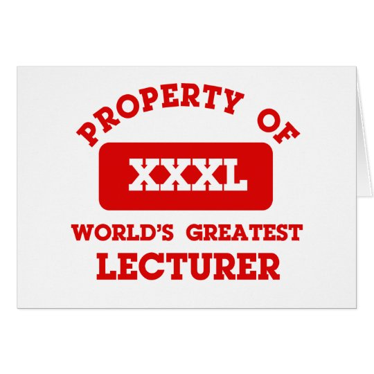 Property of world's greatest lecturer card