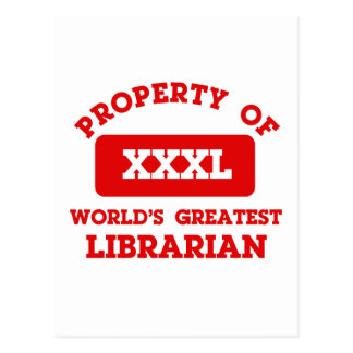 Property of world's greatest librarian postcard
