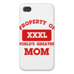 Property of world's greatest mom covers for iPhone 4