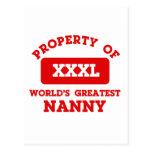 Property of world's greatest nanny post card