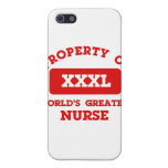 Property of world's greatest nurse iPhone 5 covers